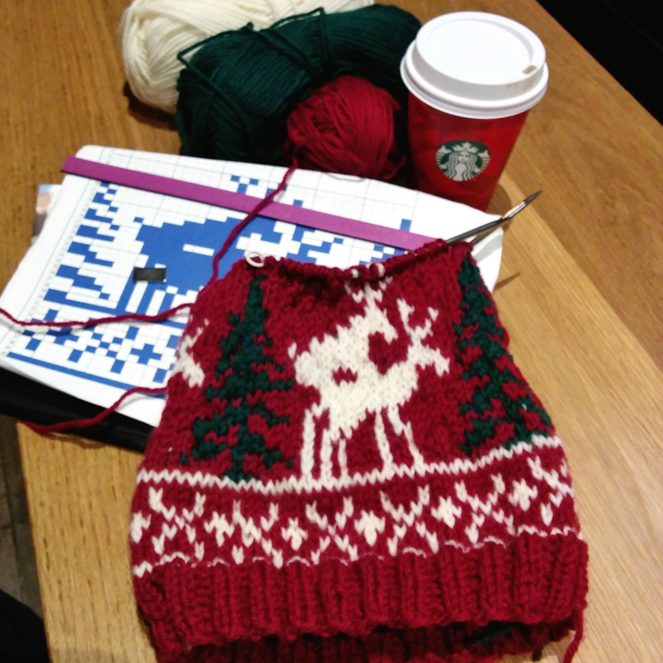Knitting chart: Deer hat | Karen\'s Avon Walk for Breast Cancer ...